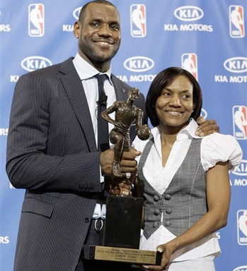 lebron james mom sleeps with teammate. about LeBron James#39; mother