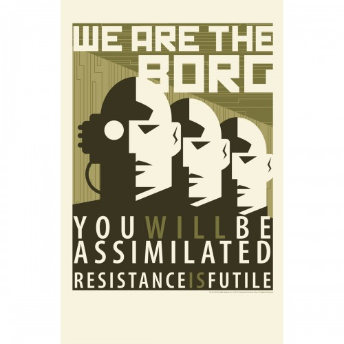 Slowly being assimilated into a Controlling Supremacist Society.Are they The Borg?!?
