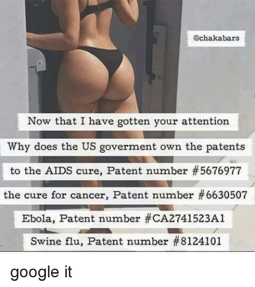 U.S. Government Patented Ebola! Why?